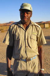 Local guide in uniform at the Sossusvlei Reserve