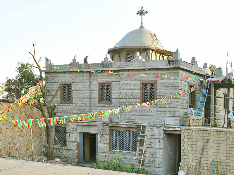 New Chapel of the Tablet in Aksum Ethiopia nears completion - exterior view