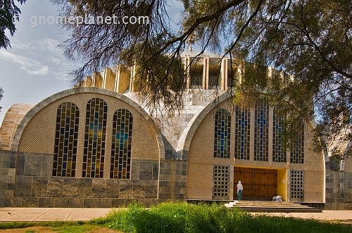 caption: The new church of 'St Mary of Zion' at Aksum, Ethiopia.