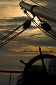 Sunset at the wheel