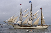 The barque Europa under full sail