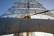 Sails on the foremast