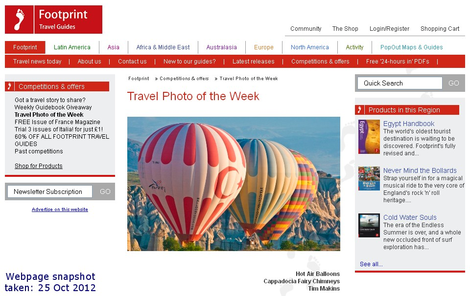 footprint travel guides travel photo of the week competition winner