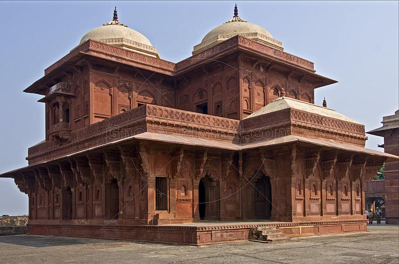 Northern Palace of the Haramsara (Birbals House) at the abandoned Mughal city of Fatehpur Sikri.