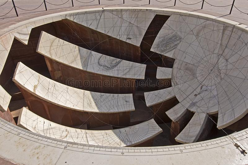 One of the astronomical instruments at the Jantar Mantar Observatory, built 1728-34.