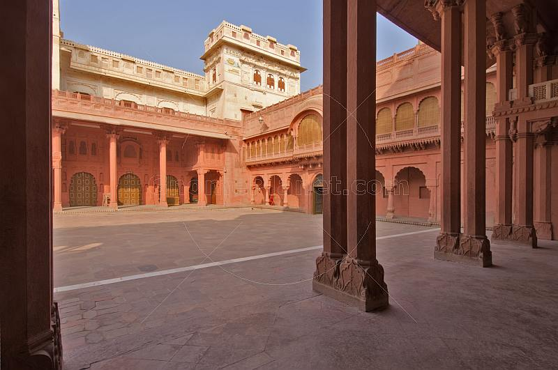 Interior courtyard of Junagarh Fort built 1588 by Raja Rai Singh.