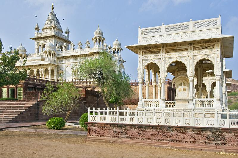 White marble tombs and the Jaswant Thada, a memorial to commemorate Jaswant Singh II was built 1899.