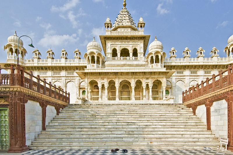 The white marble Jaswant Thada, a memorial to commemorate Jaswant Singh II.