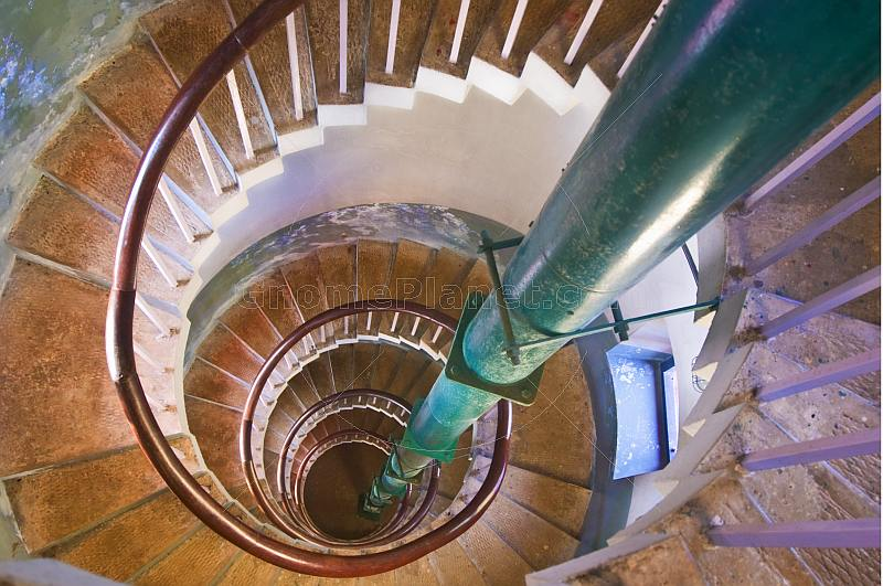 Spiral staircase in the Vizhinjam Lighthouse.
