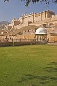 Amber Fort and the Amber Palace, built by Man Singh I in 1600.