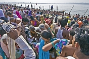 Mass Crowds Bathe At Ganges Sangam On Basant Panchami Snana
