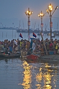 Pilgrims Bathe In River Sangam Area Before Dawn