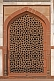 Detail of carved red sandstone Jali Screen on Humayun's Tomb.