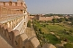 Interior gardens of Raja Rai Singh's Junagarh Fort, seen from the battlements.