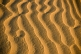 Wind-blown ridges in the sand dunes.