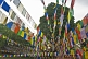 Image of Buddhist prayer-flags near the Mahabodhi Temple.