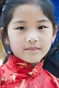 A young Tibetan girl at the Mahabodhi Temple, where the Buddha achieved enlightenment.