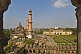 Mosque and grounds of the Bara Imambara, as seen from the roof.