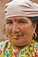 Sikkimese hill-lady with gold nose-jewellry.