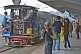 Image of A steam-hauled train pulls into Darjeeling station.