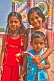 Three children at Vizhinjam fishing harbour.