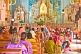 Indian worshippers at the Sunday Christian mass in the Lady of Good Voyage church at Vizhinjam.