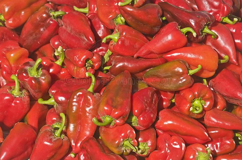 Sweet red peppers or capsicums.