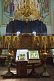 Icons and gold chandelier in Saint Nicholas Cathedral.