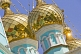 Image of Golden onion domes on the roof of Saint Nicholas cathedral.