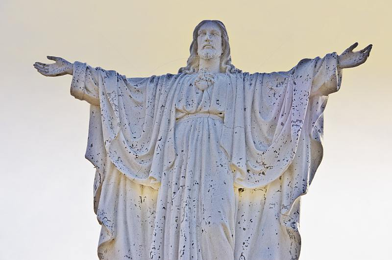Painted statue of Jesus Christ on the Valdes Peninsula.