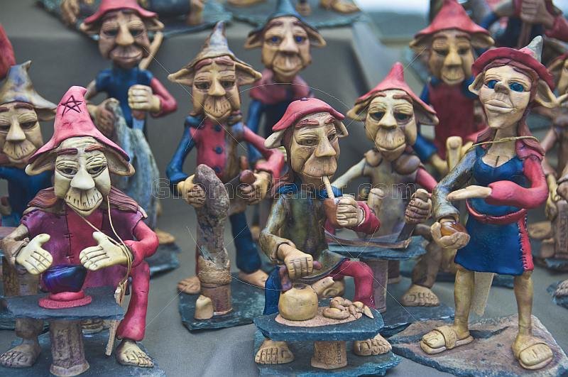 A selection of Gnome statues for sale.