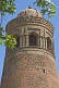 Image of The 50m high 11th Century Uzgen Minaret is one of the few Karakhanid buildings that remain in Ozgon.