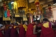 Image of Young monks at a service in the Gandan Muntsaglan Khiid monastery.