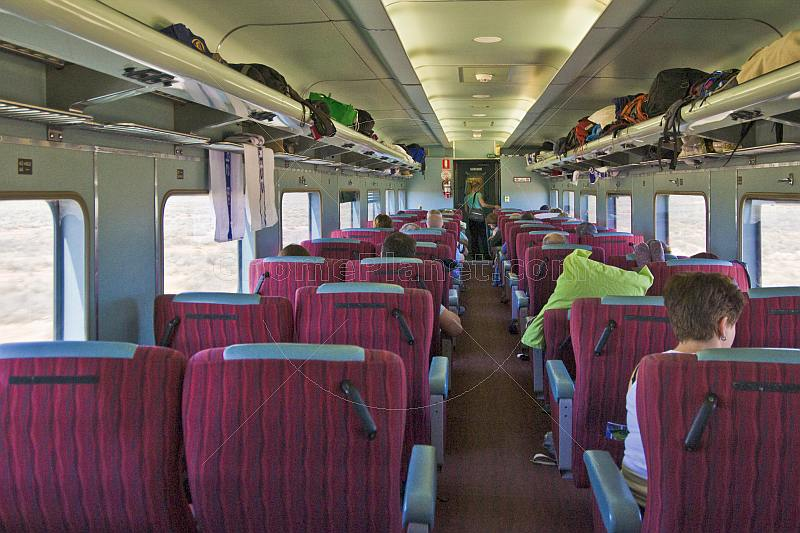 Passenger and Day-Nighter seats in Indian Pacific Red Class carriage.