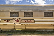 The 'Ghan'  railway carriage at Alice Springs station