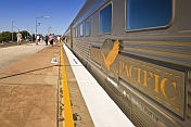 The 'Indian Pacific' waits at Broken Hill station