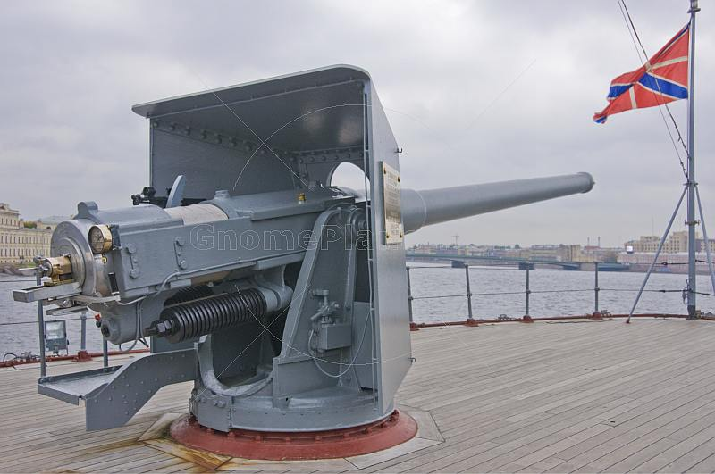 The naval gun on the Cruiser Aurora that fired the first shot of the Russian Revolution.