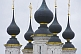 Black and gold onion-domes of the St Lazarus Church.