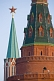 Star-capped spires of the Kremlin, in Moscow's Red Square.