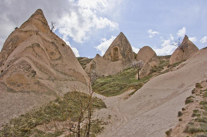 Group of tuft cave dwellings near Goreme.