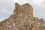 The Uchisar Fairy Castle is a maze of rock-cut rooms and chambers, as well as being a superb defensive site.
