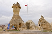 A Turkish police station housed in a unique \\'fairy chimney\\' cave of volcanic \\'tuft\\' rock.