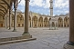 Empty courtyard of Sultan Ahmet\\'s blue mosque in Sultanahmet.