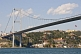 The Bosphorus Bridge, at Ortakoy, joins Europe with Asia.