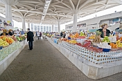 Shoppers and stall holders in the central covered fruit market.