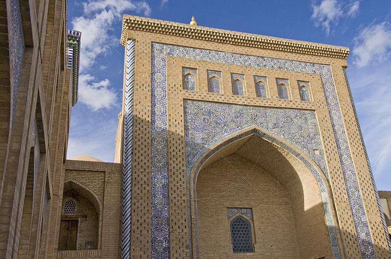 The Necropolis of Pahlavan-Mahmud is formed around the tomb of Khiva\\'s patron.