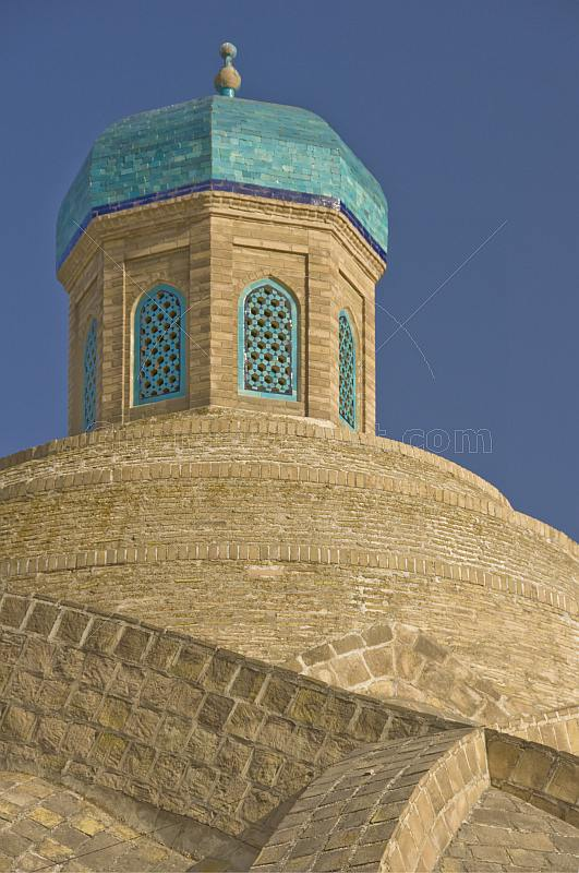 Blue-tiled dome of the covered bazaar.