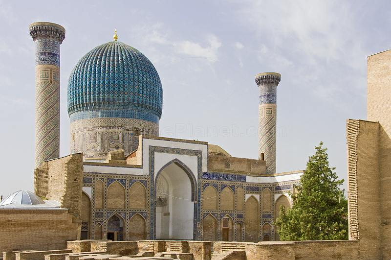 The Guri Amir Mausoleum.