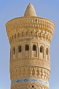 The Kalon Minaret, meaning great in Tajik, was built in 1127, and is 47m tall.