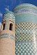 Turquoise-tiled Kalta-Minor minaret was begun in 1851 by Mohammed Amin Khan, who died before it could be finished.